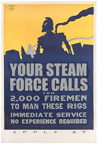 Steam Force Calls recruiting poster